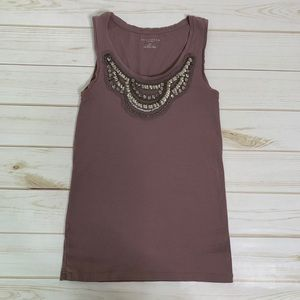 Jeweled lavender tank by Ann Taylor